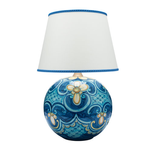 Sicilian Baroque Table Lamp In 2021 Blue Ceramic Lamp Lamp Ceramic Lamp