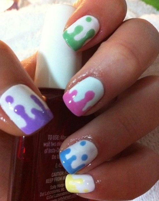 Nail designs paint dripping