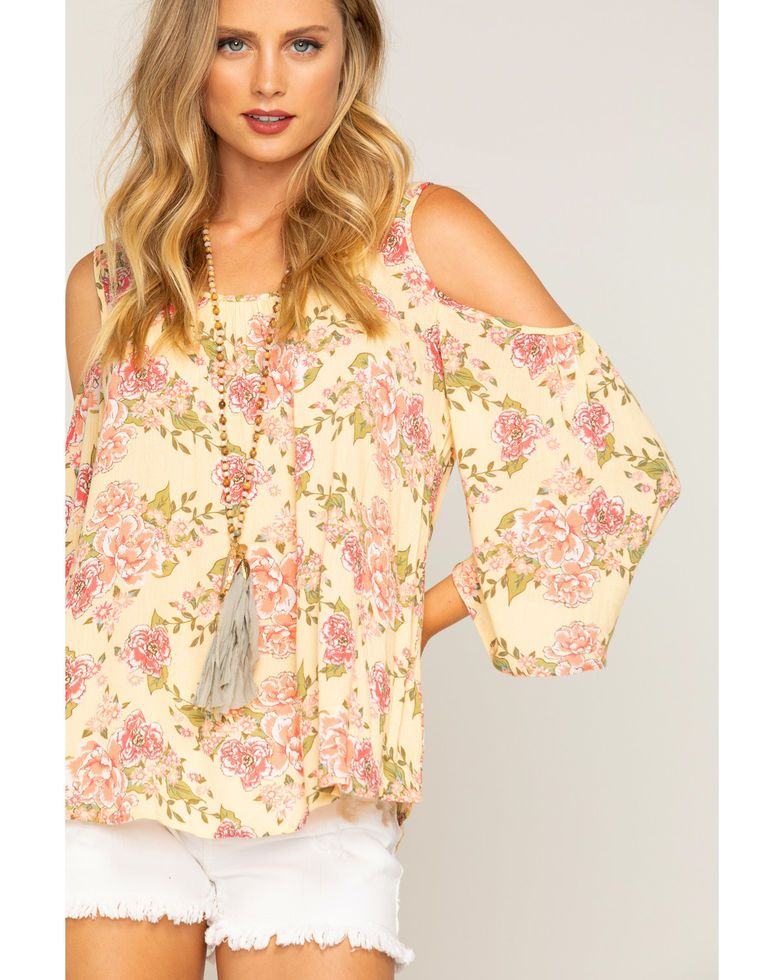fab6871965d735 Shyanne Women s Floral Cold Shoulder Long Sleeve Top