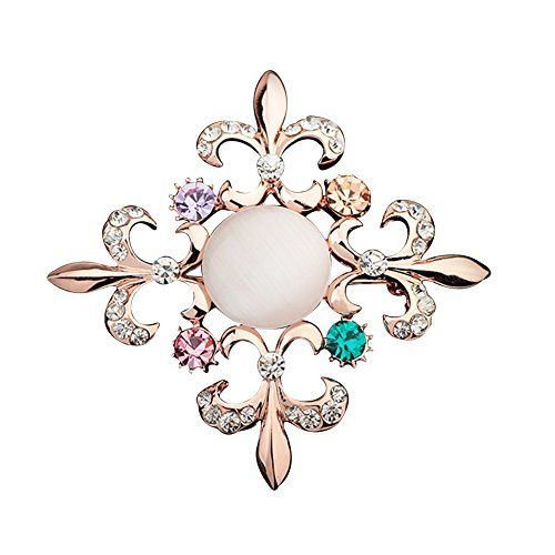 XUKE Retro Flower Buckle Shawl Brooch BCH64 *** You can get more details by clicking on the image.