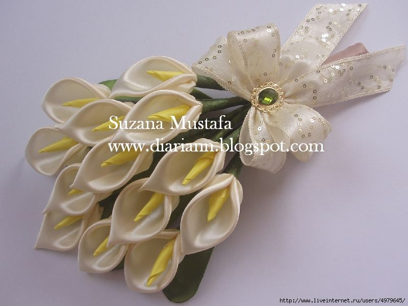 Satin ribbon kalie You will need: Satin ribbon width 5cm (white) and ...