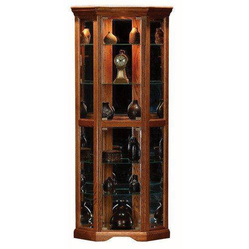 Perfect Eagle Industries Oak Ridge Corner Curio Cabinet