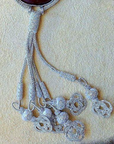 Feine# Silberdraht #Kordeln mit Silberdraht #Perlen und kleinen ...
