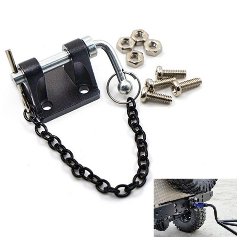 1//10 RC Car Crawler Decoration Accessories Tool Tow Shackle Hook Chain SET