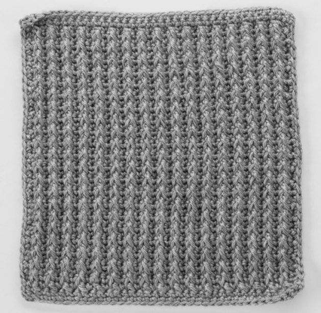 Front Post Double Crochet around Single Crochet Square for ...