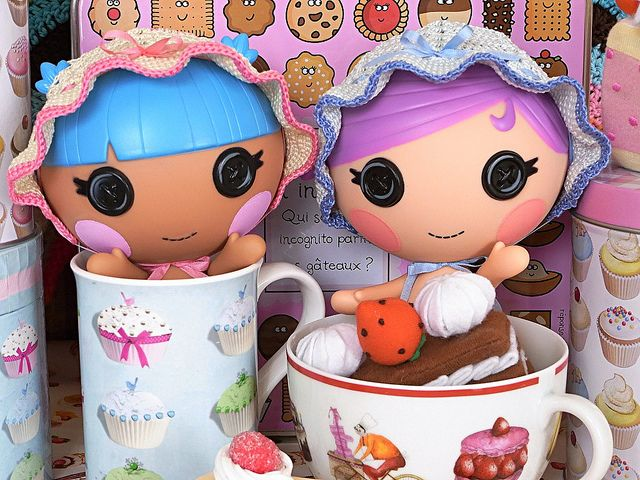 Bonnet babies (lalaloopsy littles), via Flickr.