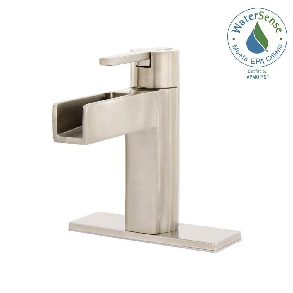 Pfister Vega Single Hole Singlehandle Bathroom Faucet In Brushed Alluring Pfister Bathroom Faucet Decorating Inspiration