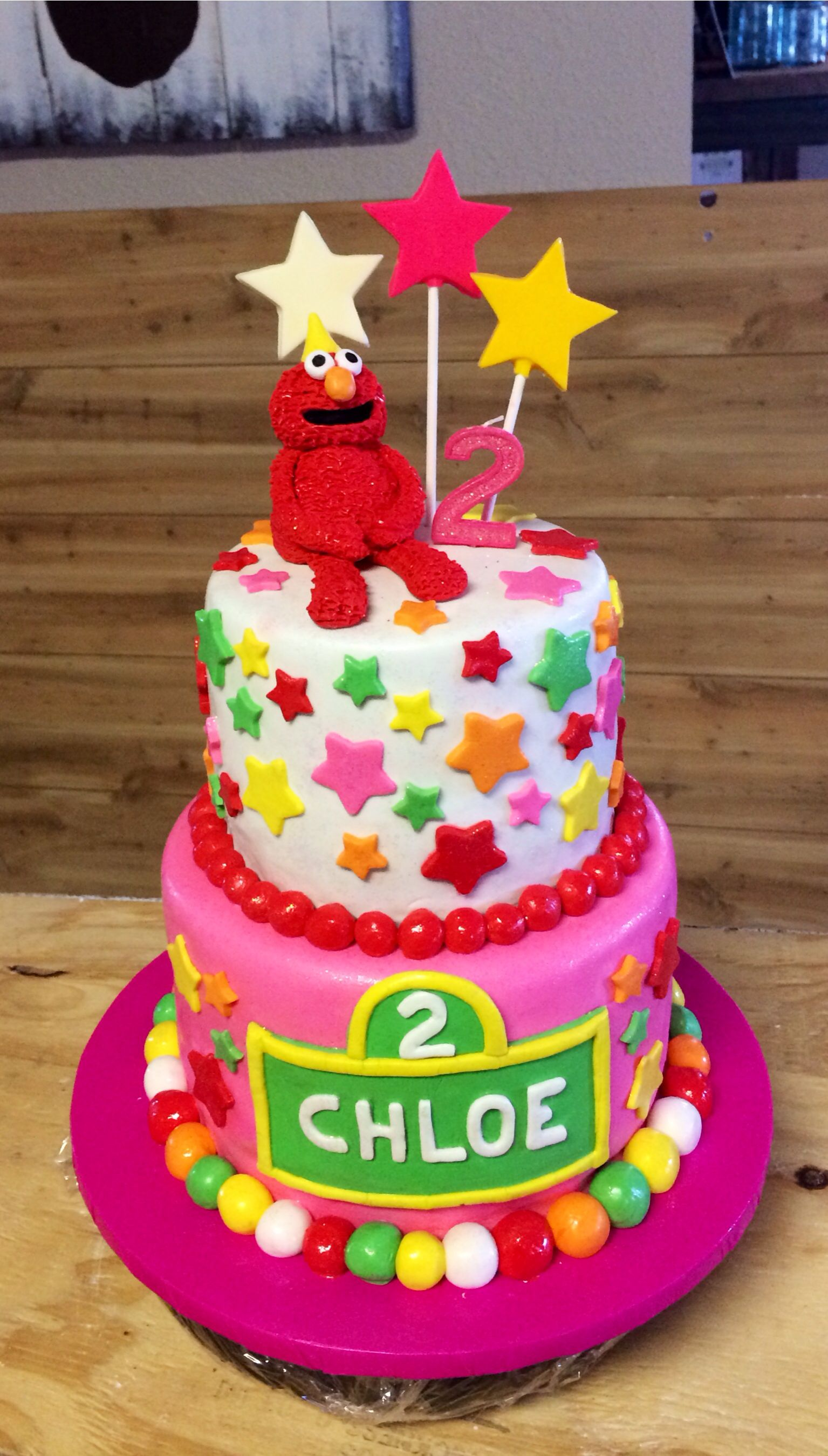 Pink Elmo 2nd Birthday Cake Elmo Birthday Cake Sesame Street