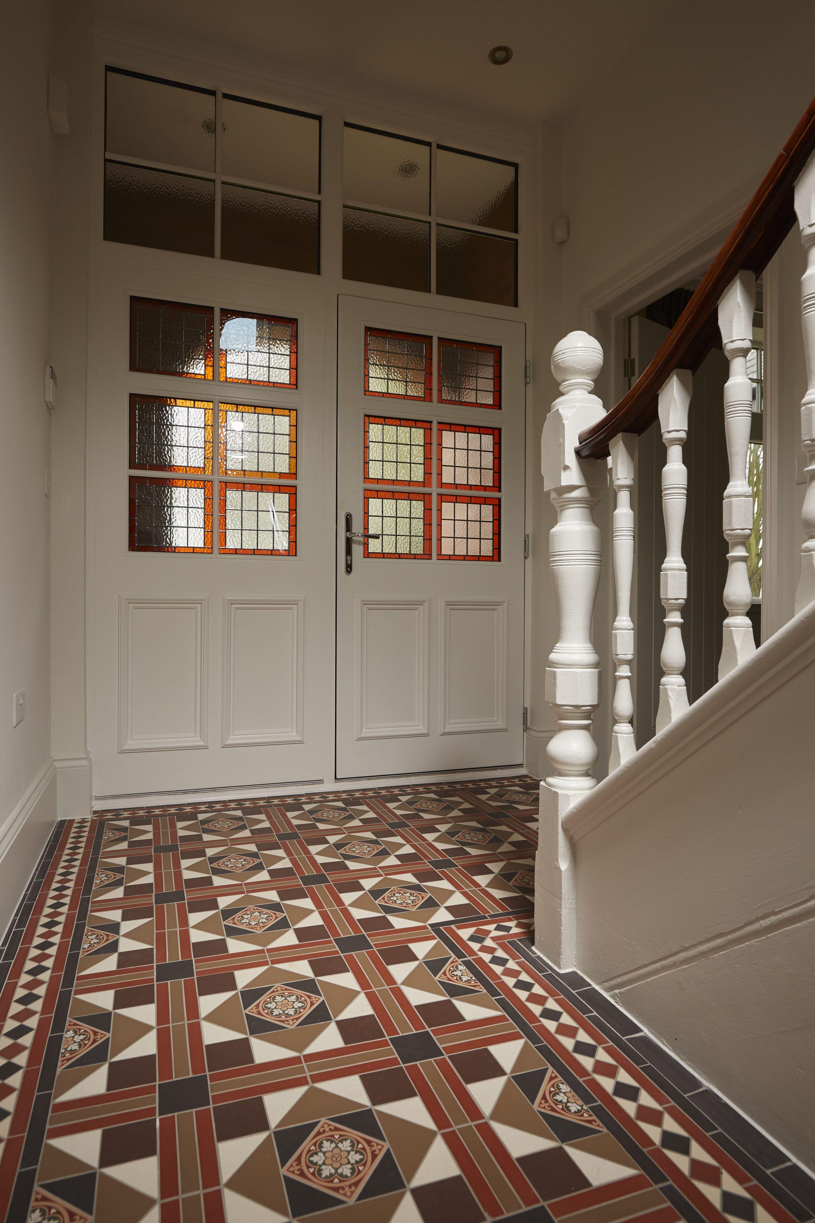 the lindisfarne pattern victorian floor tiles by original style uk