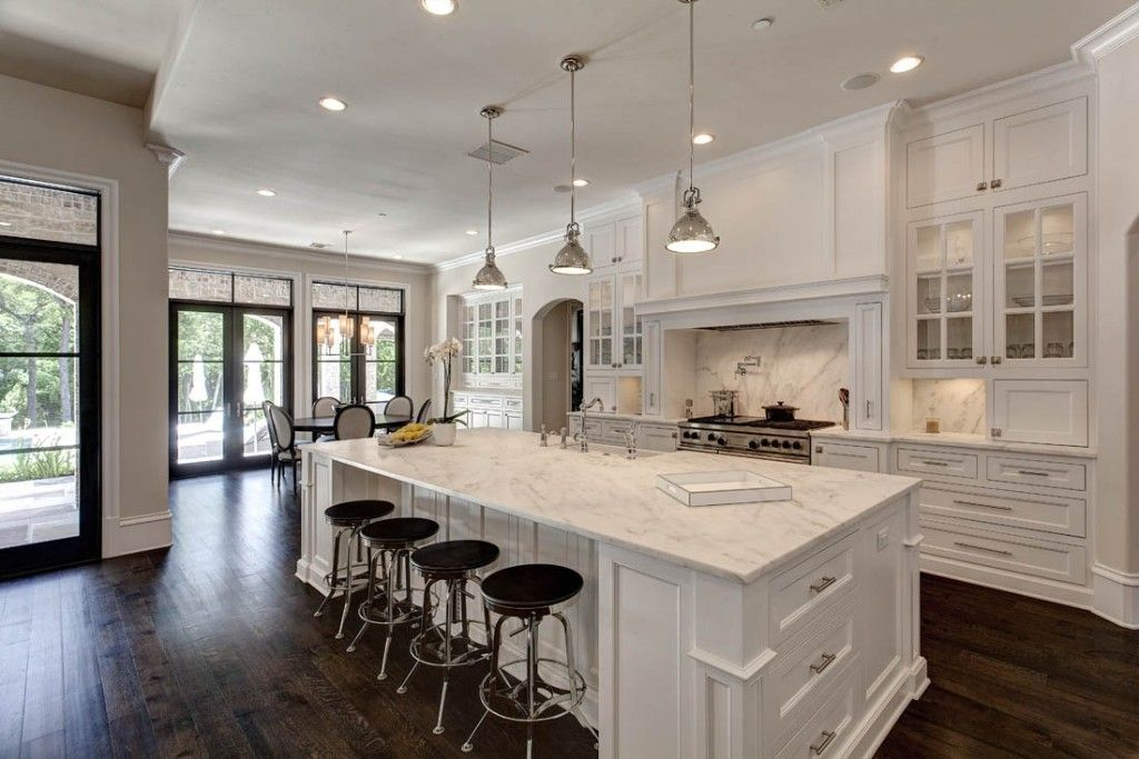 Large Open Kitchen Ideas Images Google Search White Kitchen Design White Modern Kitchen Modern White Kitchen Cabinets