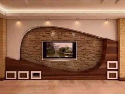 stunning 3d t.v wall design ideas-wall units designs - YouTube ...