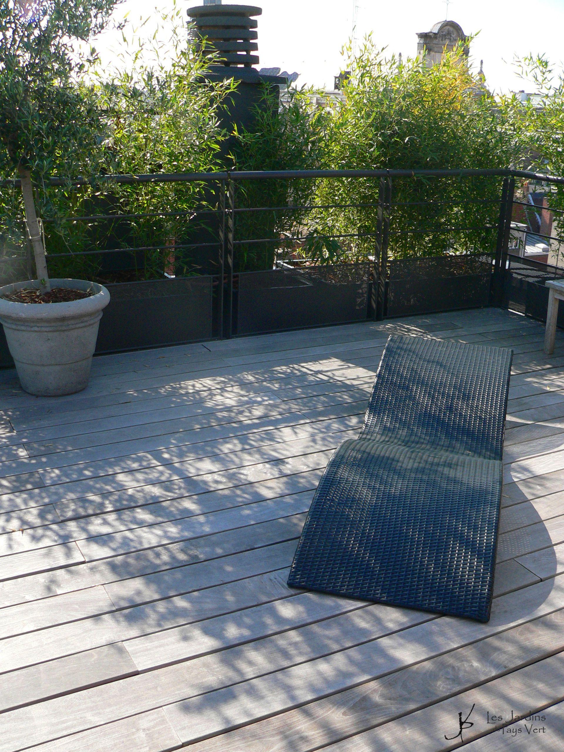 Une terrasse sur les toits lille des bambous en bacs pour se prot ger du vent et des regards - Bambou en bacs terrasse ...
