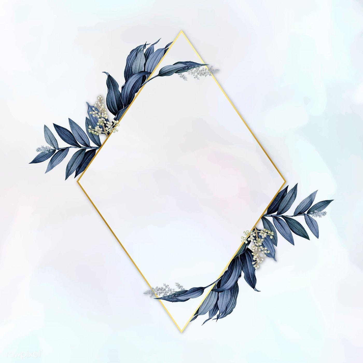 Download premium illustration of Gold pentagon frame