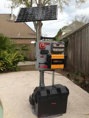 Home Made Solar Power Generator Diy Solar Solar Generators Solar Projects