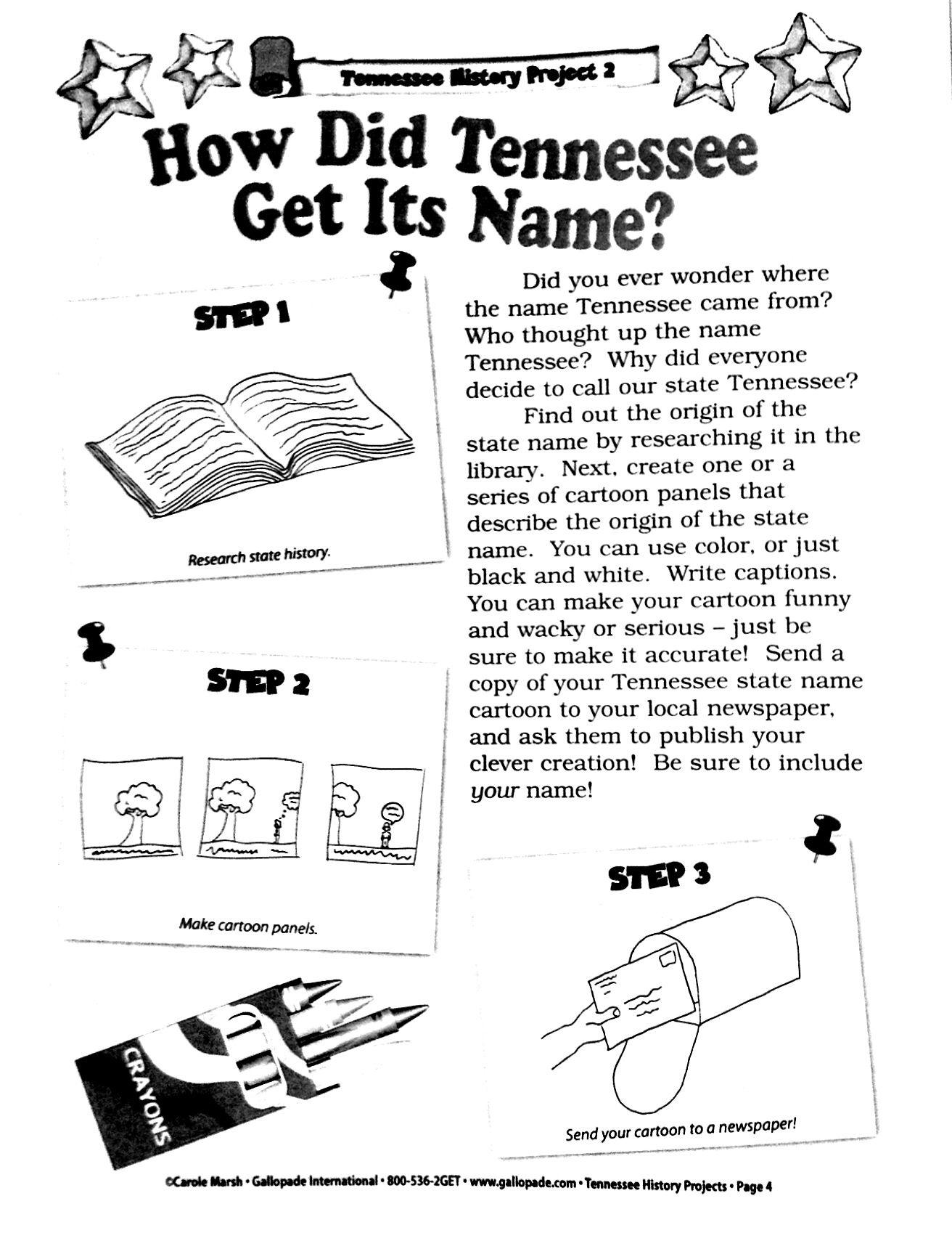 Tennessee Name Origin Cartoon K 5 Visual Art And