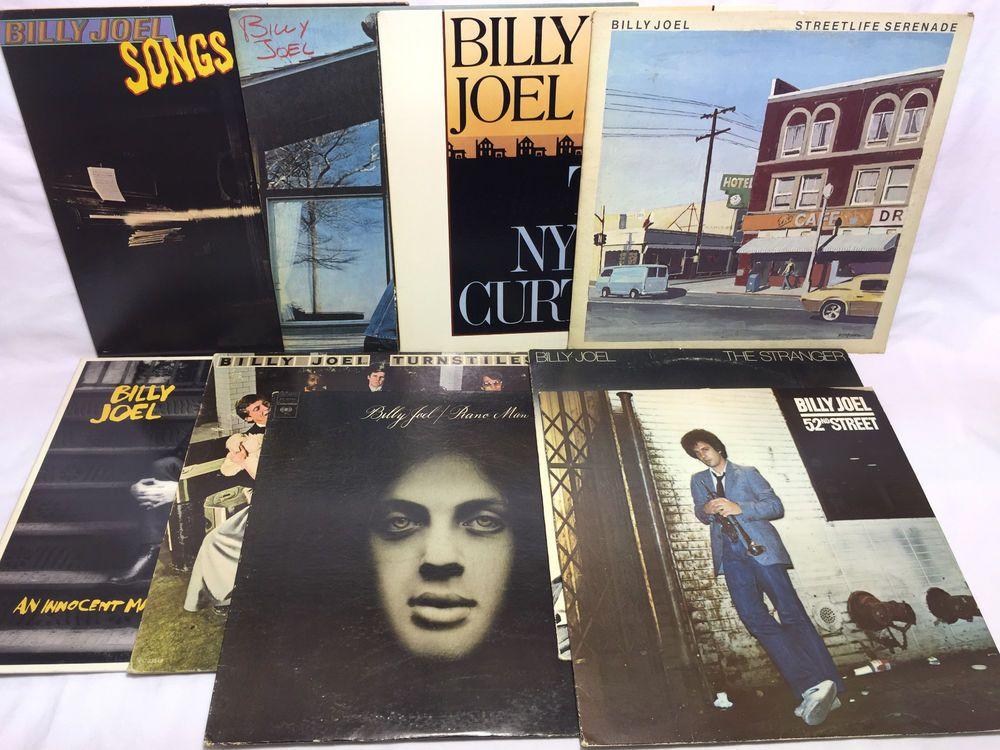 Billy Joel #Vinyl Record LP Lot Piano Man 52nd Street Nylon Curtain The Stranger