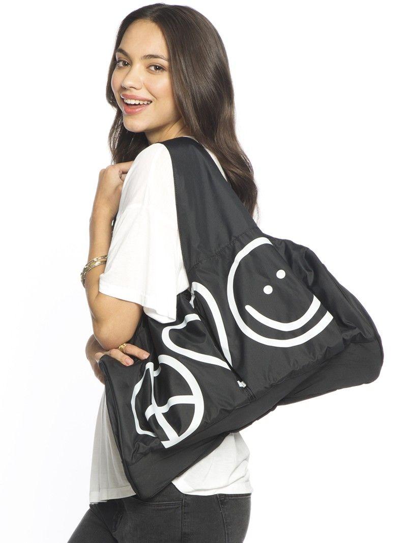 I Am Peace Love World Black Lovelove Bag