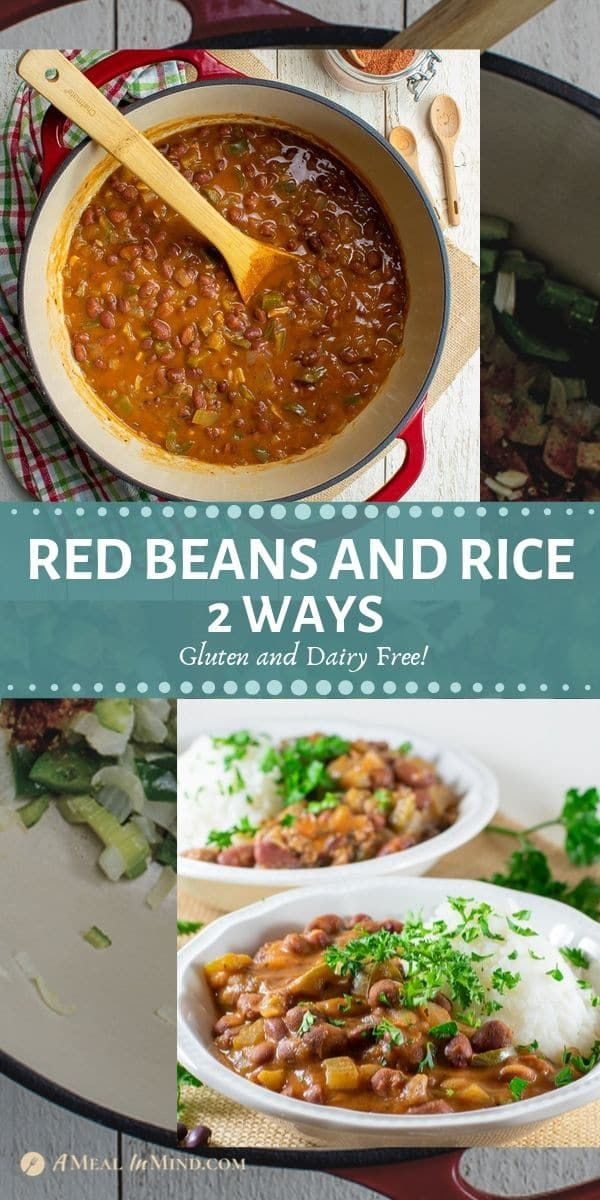 Red Beans and Rice 2 ways - Gluten and dairy free | A Meal In Mind #cajundishes
