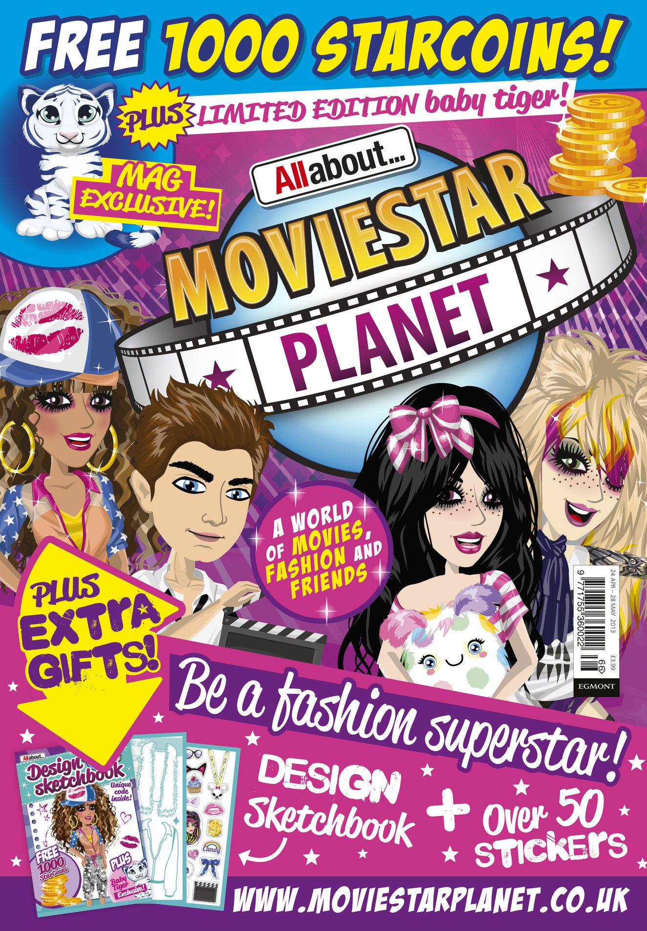Egmont Magazine Licensing Moviestarplanet Moviestarplanet Magazine Sketch Book