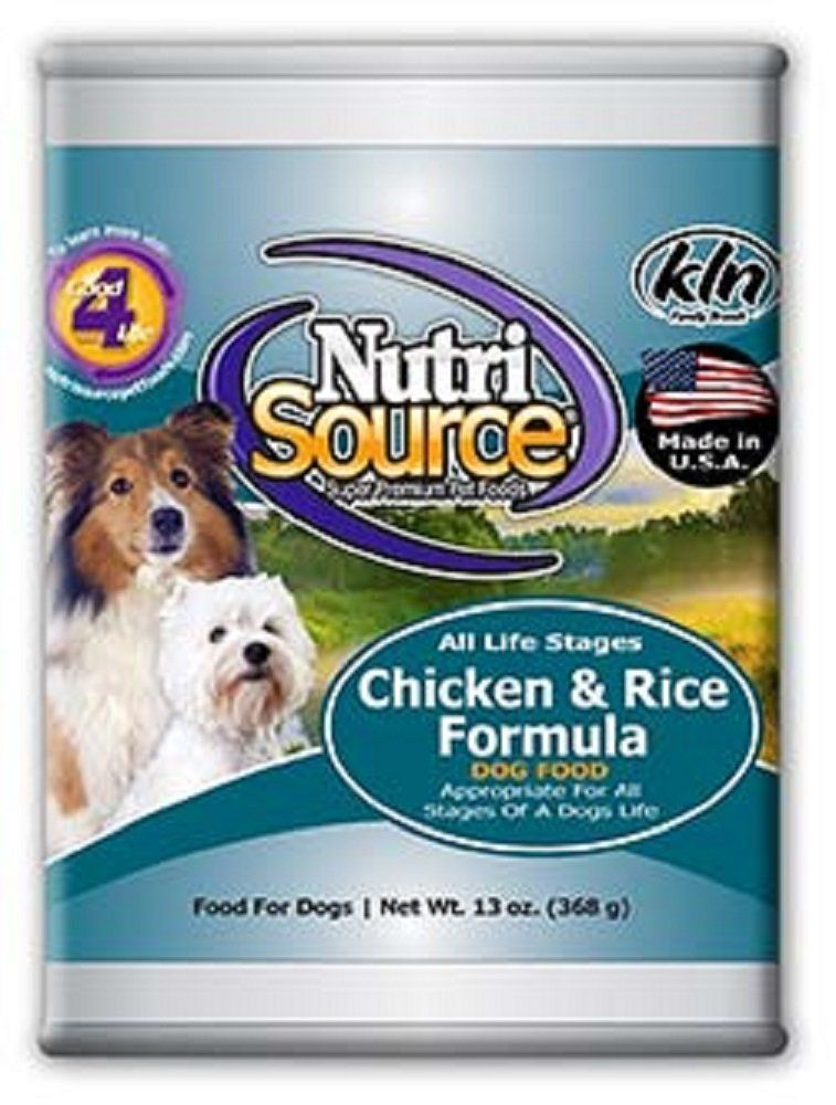 NutriSource Canned Dog Food Chicken/Rice, 13oz x 12 cans * For more information, visit image link. (This is an affiliate link and I receive a commission for the sales)