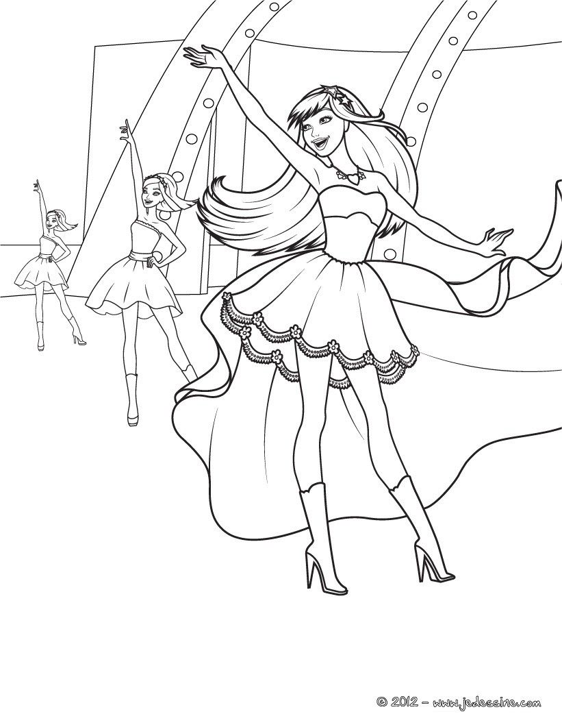 Pin On Coloriages Barbie