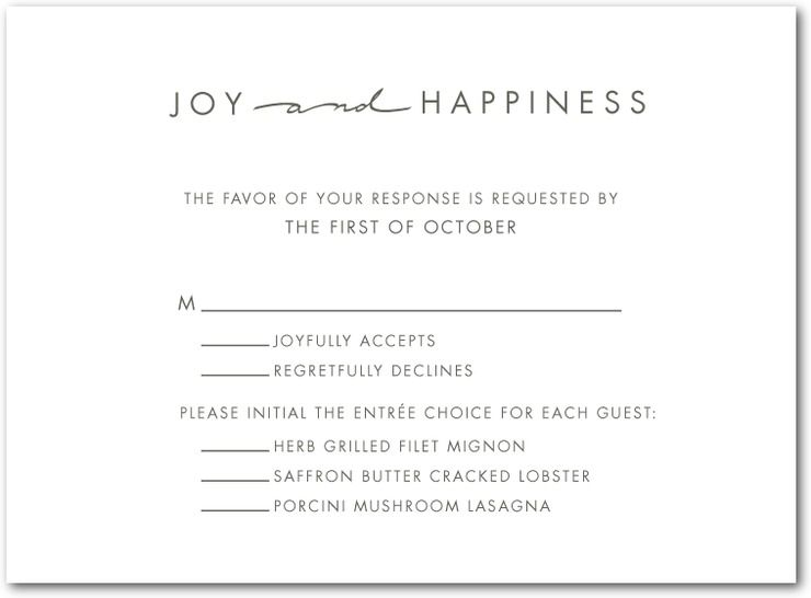 Thermography Wedding Response Cards