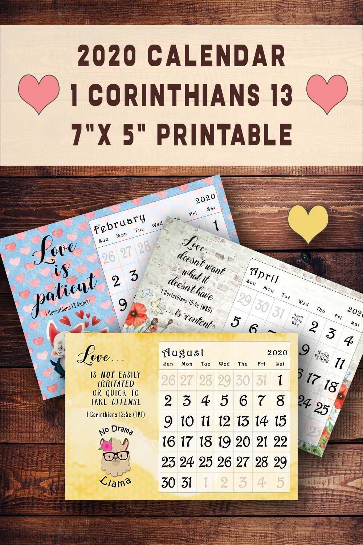2021 Desk Calendar Printable Fruit Of The Spirit Monthly Etsy In 2020 Printable Note Cards Print Calendar Desk Calendars