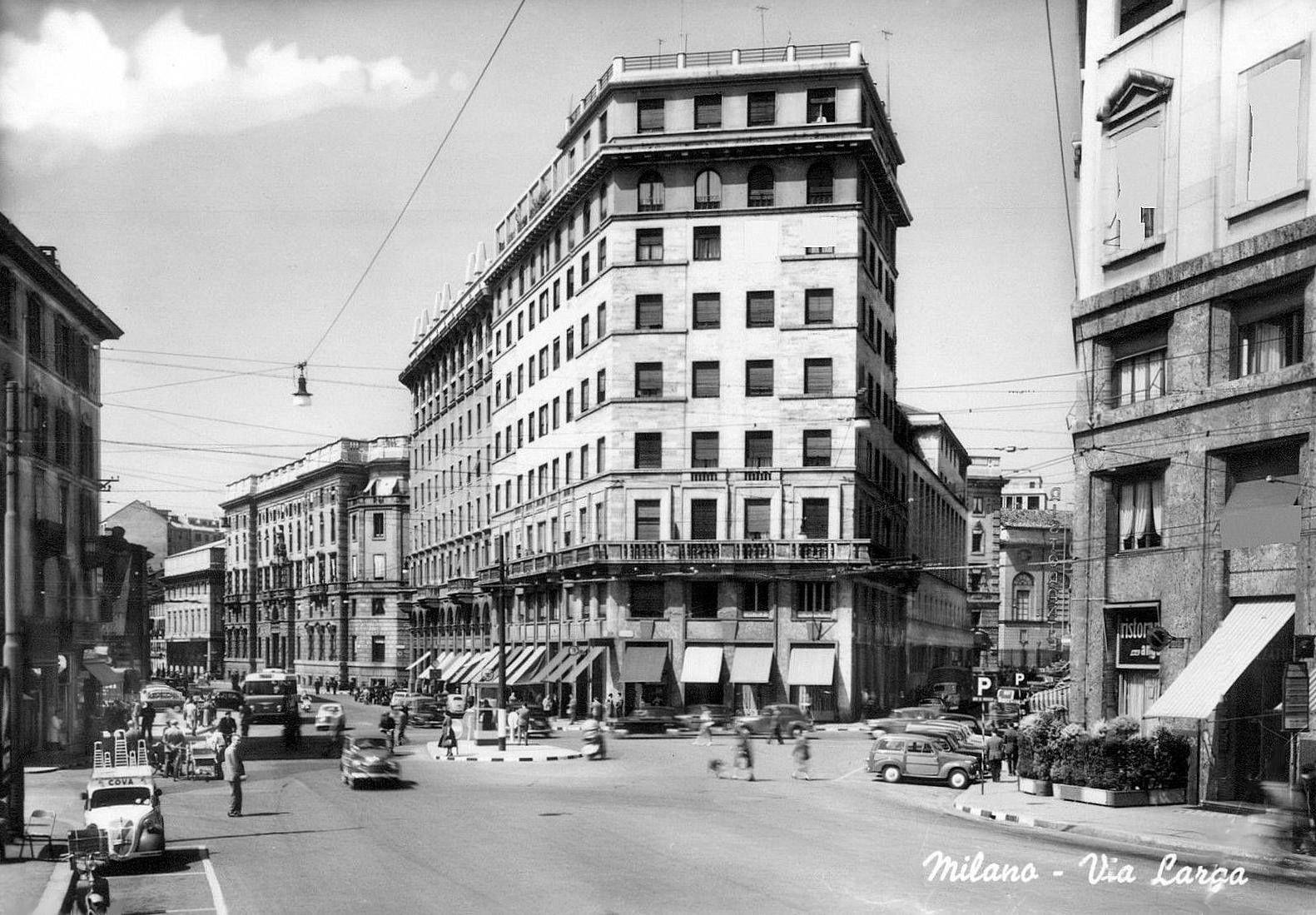 Via Larga 1950 Milano, Foto, Cartoline