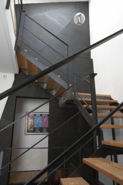 Rénovation majeure du0027un triplex en maison familiale escalier, puits - puit de lumiere maison