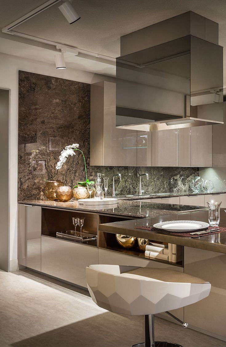 Luxury Modern Kitchen Designs Cool Fendi Casa Collection  Cucina Showroom And Kitchens Decorating Inspiration