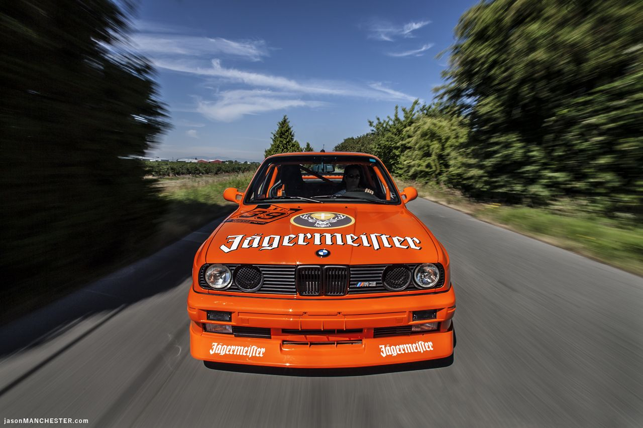 Jagermeister BMW E30 M3 - shot for European Car Magazine. #BMW #Jagermeister #E30 #M3 #Automotive #E30 #M3