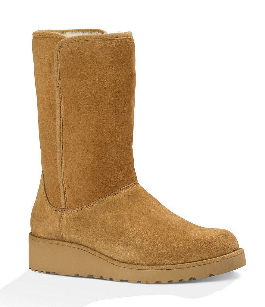 Chestnut:UGG® Amie Classic Slim™ Boots | Ugg boots, Wedge