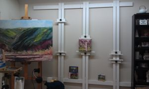 Wall Easel Clamps Complete In 2019 Art Studio At Home
