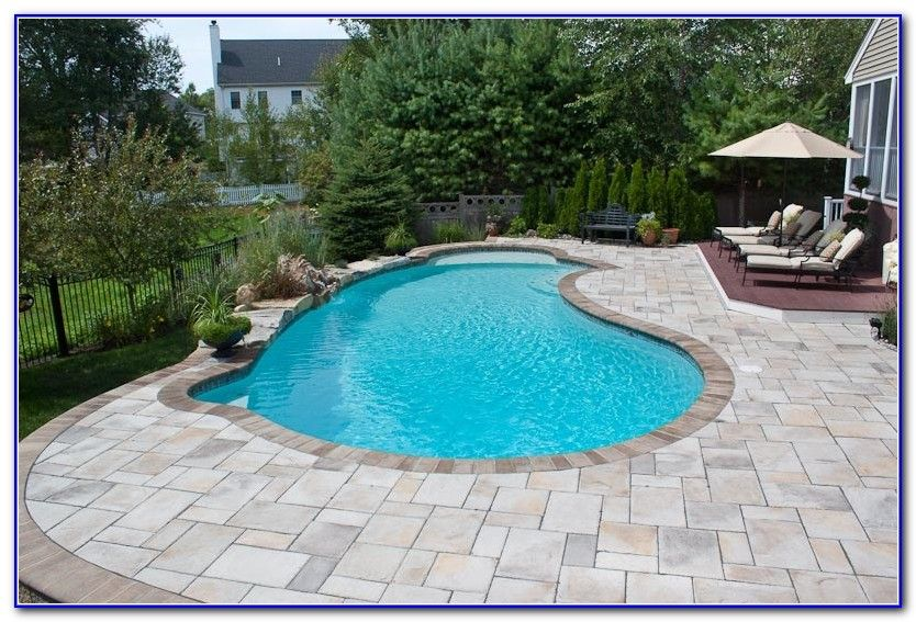 Concrete Paver Pool Deck Pool Pavers Florida Pool Backyard Pool Designs