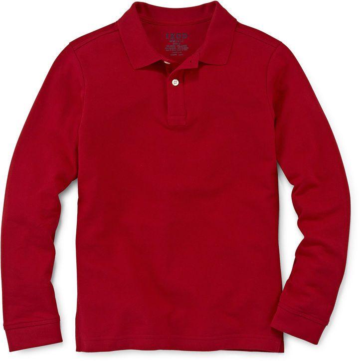 Buy izod long sleeve polo - 53% OFF!