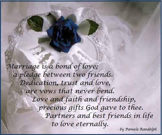Marriage Is A Bond Of Love Poem About And Vows Between Two