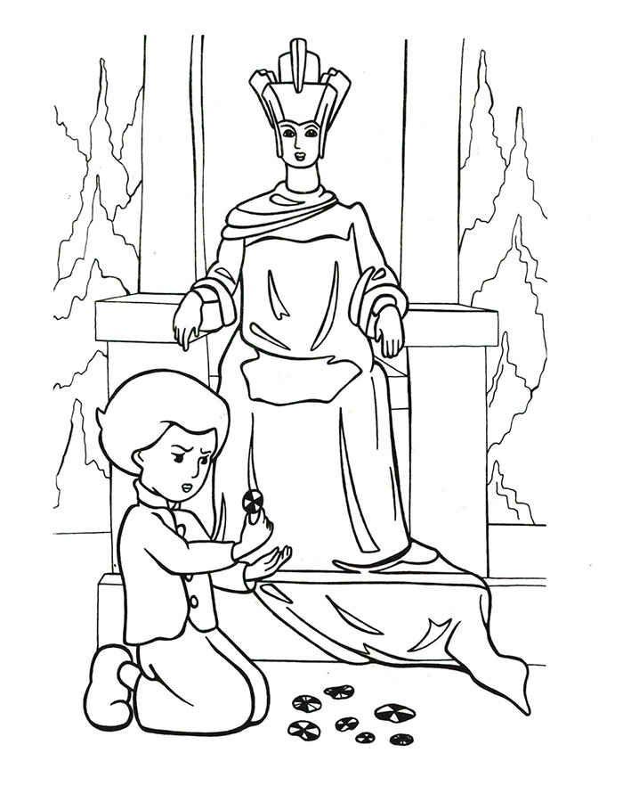 Картинки снежной королевы для срисовки для детей