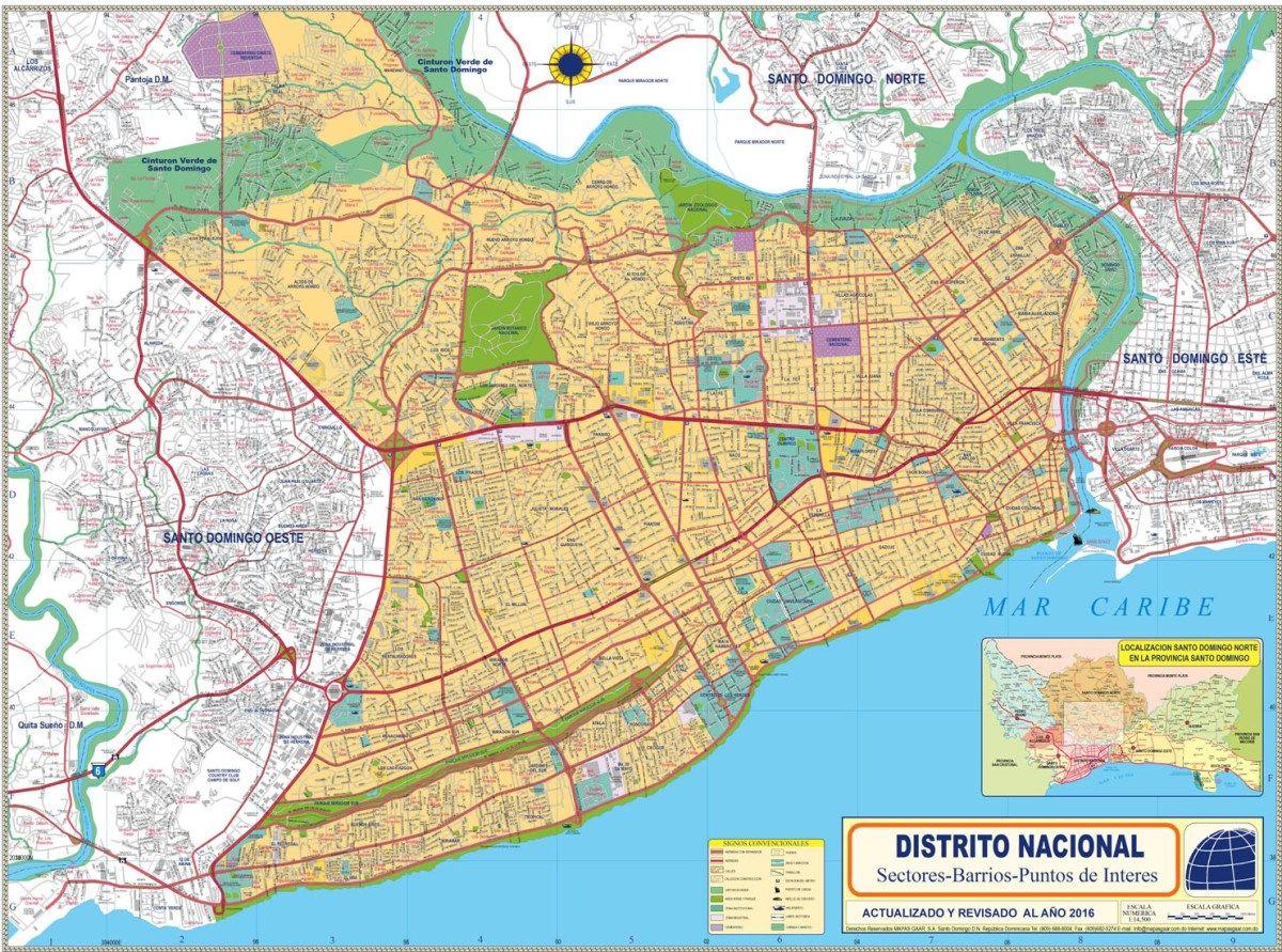 Mapas Municipios del Gran Santo Domingo y Distrito Nacional Mapas