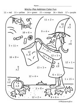 Autumn & Halloween Witchy-Poo Addition Color Fun