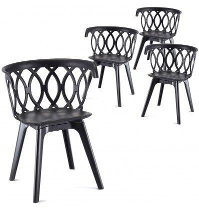 lot de 4 chaises solides originales et