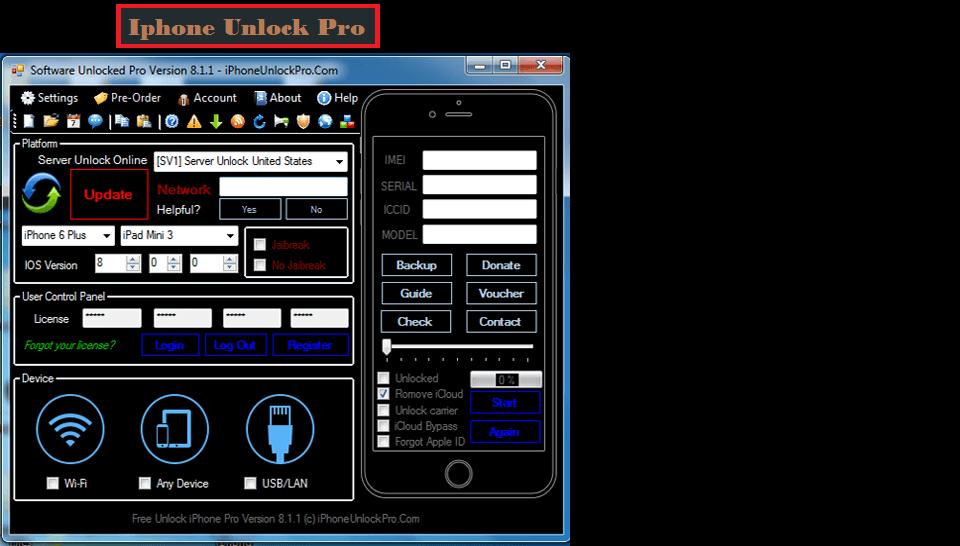 Free Iphone Unlock Pro Any iOS Versions Factory Unlock