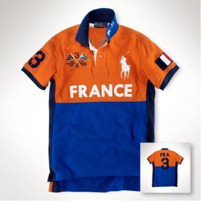 Cheap Polo Ralph Lauren Orange Man Sailboat Shirts A White Pony And Blue No.