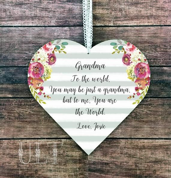 Grandma Gift For Personalized From Granddaughter Grandson Grandmother Birthday