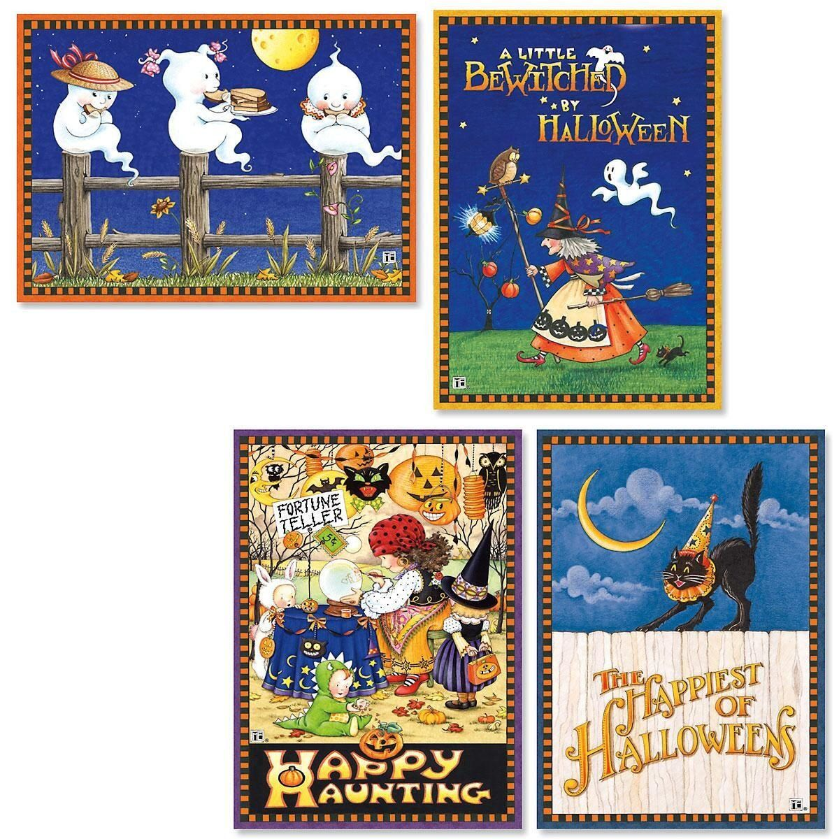 Current 2020 There Halloween Card Halloween Card Bundle Set/8 assorted 1   Mary Engelbreit in 2020