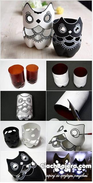 lampeczki from plastic bottles