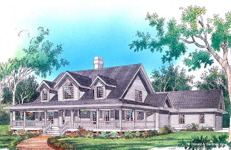 House Plan The Thornhill Farm By Donald A Gardner Architects House Plans Farmhouse Country Style House Plans House Floor Plans