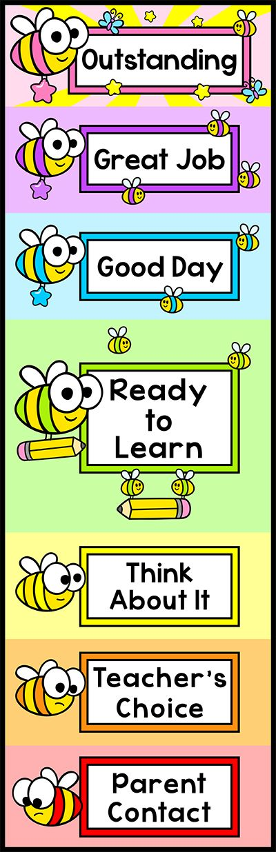 Classroom Decor Charts : Behavior chart bee theme classroom decor charts clip