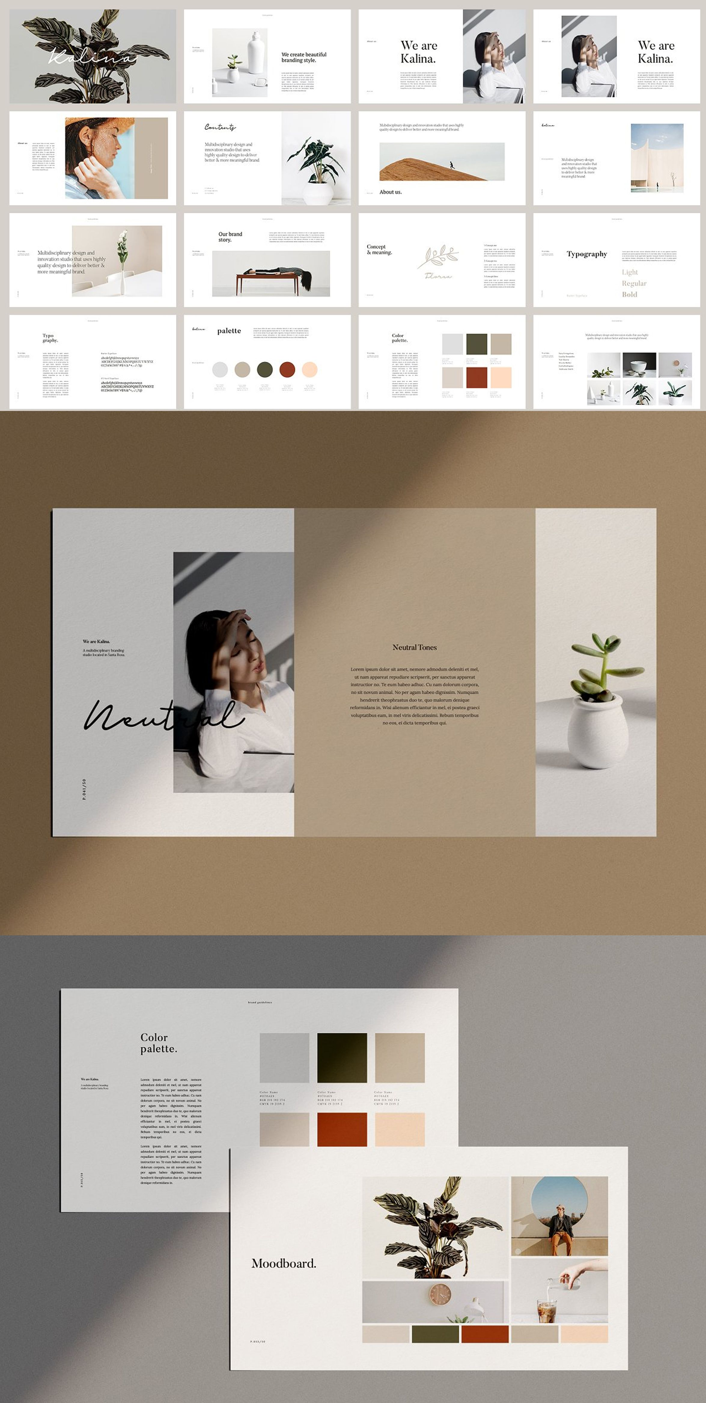 Kalina Powerpoint Brand Guidelines Presentation Design Layout Brand Presentation Brand Guidelines