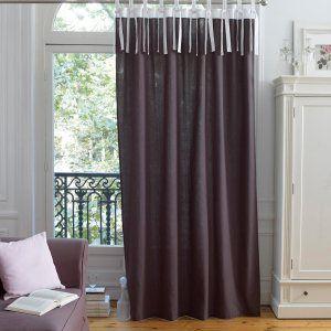 rideau bicolore effet lin ledya la redoute home sweet home en 2018 pinterest la redoute. Black Bedroom Furniture Sets. Home Design Ideas