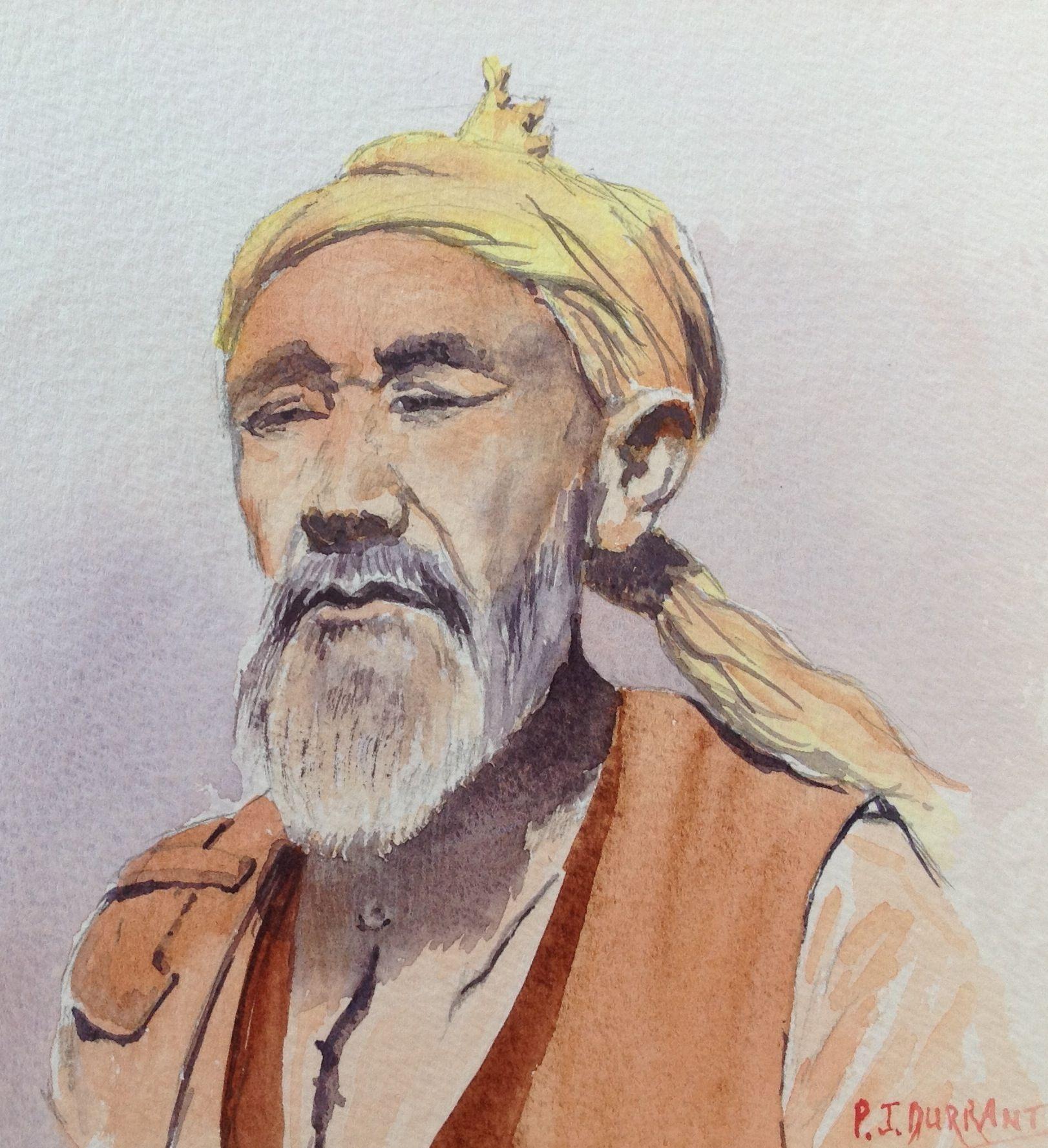 Kurdistan tribesman.   Watercolour